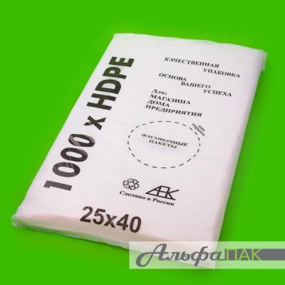 Пакет фасовочный 25*40 8мкм Евроблок