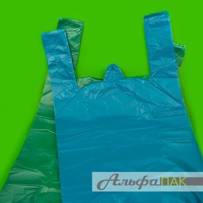 Пакет-майка 30*55 цветная 14мкм