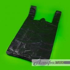 Пакет-майка 28*50 черная 12мкм