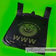 "Пакет-майка 43*69 эмблема ""WWW"" 40мкм 50кг ПВД"
