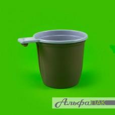 Чашка кофейная коричневая Интеко 200гр РР